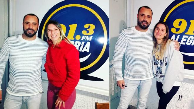 """Programon de """"Quien diria""""91.3! La personal trainer Yamila Portuguez y la instructora María Virginia Grassi / CRAZYCOLORGYM !"""