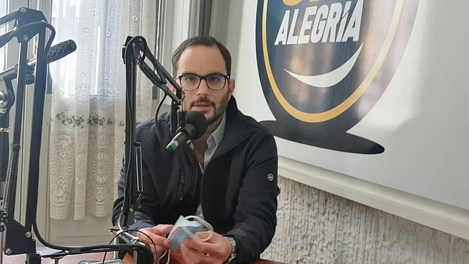 La visita a la Radio del Edil del Partido Nacional Facundo Marziotte