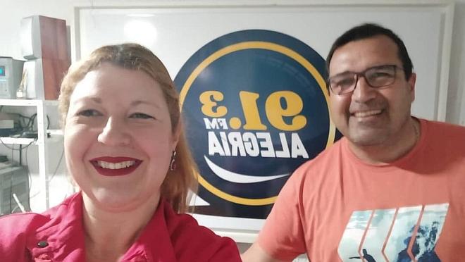 La visita a la Radio de María De Los Angeles Márquez Rossi, una linda charla como siempre