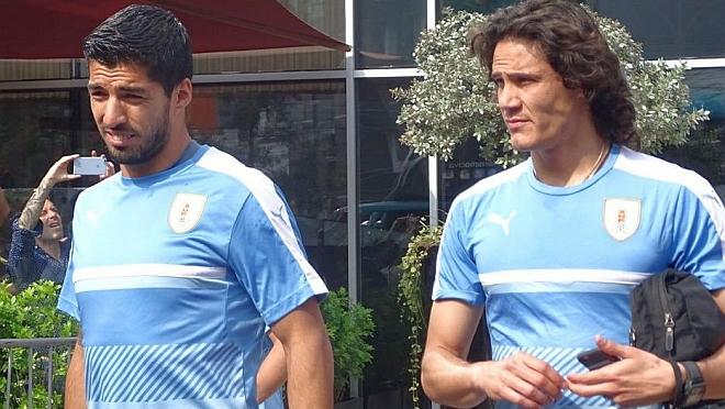 Selección: Suárez, Cavani y Coates son bajas. Citados Álvarez Martínez, Cáceres y Martínez